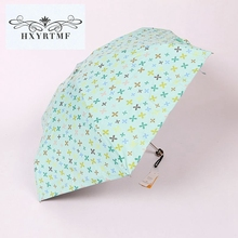 New Cute Women Ultralight Manual Umbrellas Lovely Bear Small Umbrella Case 5 Folding Anti-UV Sun/Rain Elargol Coating Parasol