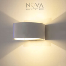 Aluminum Wall Light Indoor Lighting Up Down Wall Lamp Semi Round Decorative Wall Sonce AC230V Input 2PCS per lot