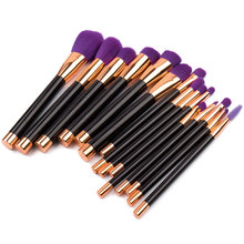 Elailite 6-32Pcs Make Up Brush Set High Quality Foundation Blusher Powder Brush Tools Flat Eyeliner Eyebrow Makeup Brush(China)