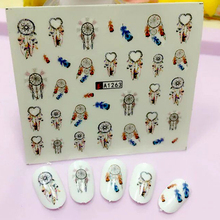 Dream Catcher Series Water Transfer Nail Art Sticker Kids Decals DIY Decoration For Beauty Nail Tools A1263(China)