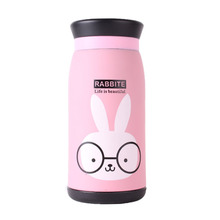 Stainless Steel Cartoon Thermos Cup Bottle Thermocup Vacuum Thermal Mug 260ml/350ml Funny Gift