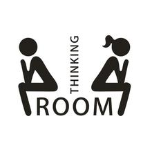 Rush Sales DIY Thinking Room Toilet Seat Bathroom Sticker Home Refrigerator Wall Decal Art Vinilos Decorativos Toilet Stikers