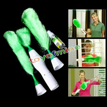 Multifunctional Electric Green Feather Dusters Dust Cleaning Brush for Blinds