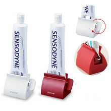 New Rolling Tube Squeezer Tooth Paste Squeezer Toothpaste Dispenser Bathroom Accessories(China)