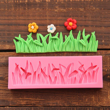 DIY 3D Grass Silicone Mold For Cake Decorating Bakery Tools Silicone Forms For Fondant Decoration Bakeware Free Shipping 1551(China)