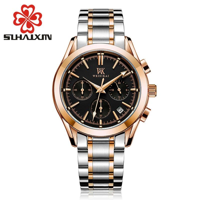 2017 Hot Sale Stainless Steel Watches Men With Top Brand Luxury Sports Quartz  Outdoor WristWatch Luminous Waterproof Male Clock<br>