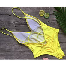 Buy 2018 Sexy One Piece Swimsuit Women Swimwear Scrunch butt Bodysuit Bandage Cut Beach Bathing Suit Swim Wear Monokini Swimsuit