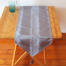 1 PC Polyester Jacquard Table Runner Flag Decorative Dining Tablecloth For New Year Table Cloth 33x177cm/13x70''(China)