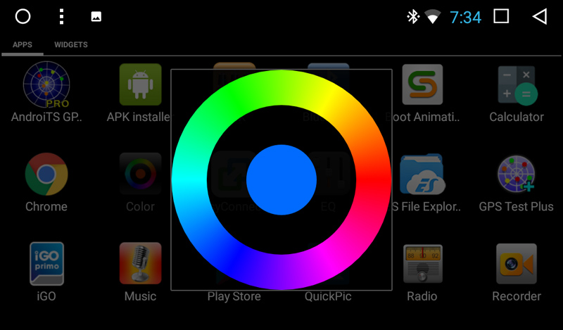 Button Backlight Color Setting