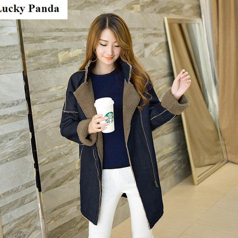 Lucky Panda 2016 New Fashion section of thick winter Korean version of lambs wool coat College Wind LKP227Îäåæäà è àêñåññóàðû<br><br>