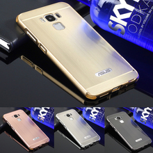 Phone Case For Asus zenfone 3 MAX ZC553KL Aluminum Metal Frame Wire Drawing Effect Acrylic Cover Cases For zenfone3 MAX ZC553KL