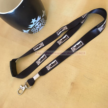 300pcs 1.5*90cm custom made black color key Lanyards,mobile neck straps printed your brand logo with free shipping DHL Wholesale