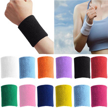 Men & Women Sports Sweatband Terry Cloth Wrist Sweat Bands Tennis Squash Badminton Basketball Bracelet Wristband Gym Wrist Wraps(China)
