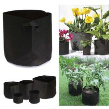 Fabric Pot Green Vegetable Pouch Root Containers Round Pot Container Grow Bag For Plant 1 / 2 / 3 / 5 / 7 / 11 Gallon PML