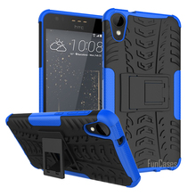For HTC Desire 825 Case 5.5inch Hybrid Kickstand Dazzle Rugged Rubber Armor Hard PC+TPU 2 In 1 With Stand Function Case(China)