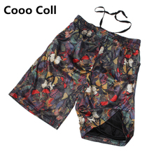 Summer Brand style Cotton fashion loose casual shorts hip-hop beach shorts Follower printing short  black  M-XL Cooo Coll