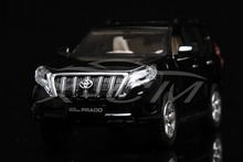 Diecast Car Model Toyota Land Cruiser 2016 Prado 1:32 Can Pull Back (Black) + SMALL GIFT