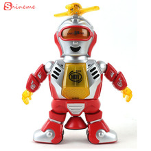 Funny Strong breeze dance flutter and the intelligent robot rotate 360 degrees with light music electric toy for kids gifts