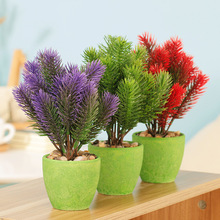 Whosale Price Artificial plastic flowers fake plants simulation tree potted wedding home decoration accessories random style T20