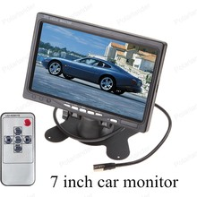 car monitor small display 7 inch digital Color TFT LCD with 2 Channels Video lcd for reversing parking backup rear view camera