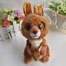 "KIPPER - brown kangaroo TY BEANIE BOOS 1 piece 15cm 6"" Plush Toys Stuffed animals KIDS TOYS Children toy Soft toys home decor(China)"