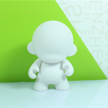 Hot Sale Kidrobot Munny 4 inch DIY Action Figure Doll White Color With Opp Bag(China)