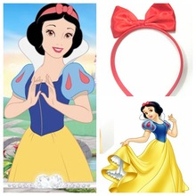 red bow hair band clip big red bow headband snow white accessories snow white hair bow band clip big bow hair accessories