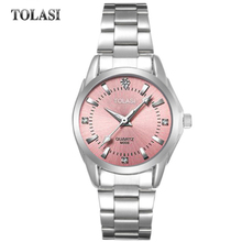 2017 new TOLASI brand watch quartz fashion bracelet watch waterproof Watch Luxury Diamond simple gift clock women girls watches