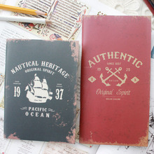 Hot Marine log School notebook Diary Notepad paper 24 Sheets Travel Journal soft Copybook Office School Supplies wholesale(China)