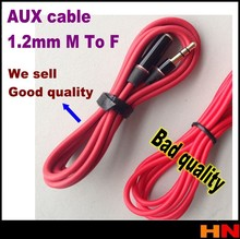 1pcs Aux Cable 120cm Audio Extension 3.5mm Cable Aux Stereo M to For Extend all Headset Cord Audio Stereo Cord 4 MP3 red 1 PCS