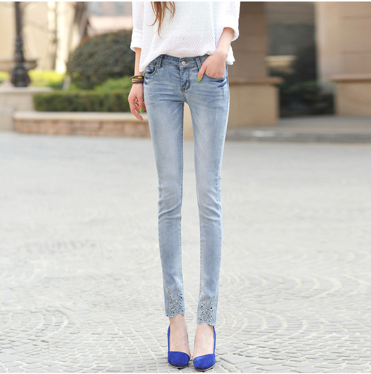 Women jeans New Fashion woman jeans femme denim pants Quality embroidered slim pants  boyfriend jeans for women trousers Y452Одежда и ак�е��уары<br><br><br>Aliexpress