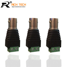 3PCS/LOT COAXIAL BNC JACK CONNECTOR TO GREEN TERMINAL BLOCK COAX CAT5 TO CCTV CAMERA SYSTEM WHOLESALE BNC ADAPTER