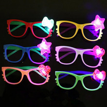 Cute Girl Boy Baby Flashing Glasses Funny Lighted Glasses Tricky Props Birthday Party Supplies Wedding Favors Gift