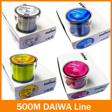 Nylon fishing lineTransparent/ Yellow/ Red/ Blue 500m super High Strong Monofilament Fishing Line for carp fishing(China)