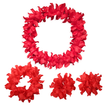 4 pcs/set Free Shipping Festival Wedding Party Decorations Supplies Hawaiian Luau Petal Leis Beach Tropical Flower Necklace