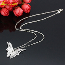 Diomedes Gussy Life wholesale Women Lovely Butterfly Pendant Chain Necklace Jewelry Feb9