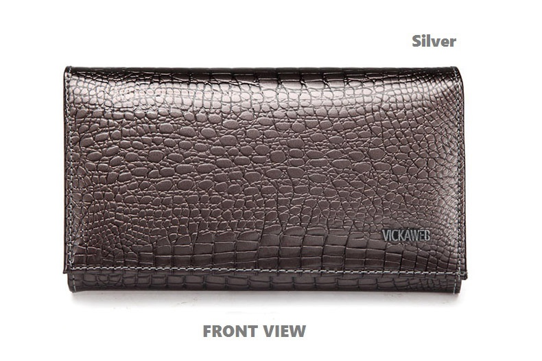 VICKAWEB Genuine Leather Small Wallet Women Wallets Alligator Short Purse Coins Hasp Girls Wallet Fashion Female Ladies Wallets-015