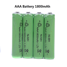 New 10pcs AAA Rechargeable Battery 1800mAh 1.2V NI-MH Batteries For Remote Remote Control Toy Light VES16 P0.16