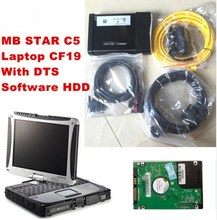 Car tester mb star c5 sd c5+laptop+with 2017/07 DTS Software HDD auto diagnostic scanner profesional for mercedes benz DHL Free