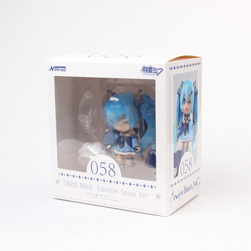 Hatsune Miku Mini Action Figure 110 scale painted figure Snow Miku Twinkle Snow Ver. PVC figure Toy Brinquedos Anime (4)