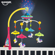 Huanger Bed Bell Baby Toys 0-12 Months Crib Mobile Musical Rattles For Children Educational Kids Toy(China)