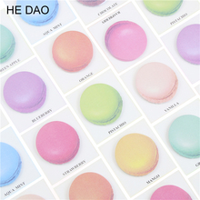 Cute Kawaii Macaron Memo Pad Lovely Colored Post It Note Paper Sticker For Kids School Supplies