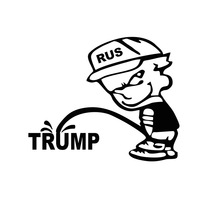 Funny Rus Bad Boy Pee Piss Trump Car Sticker For Truck Window Bumper Auto Door And All The Smooth Surface Vinyl Decal 9 Colors