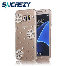 Saicrezy Snowflake Christmas Bling crystal rhinestone phone Case for Samsung N7000 i9220 Note 2/4/5/8 Note 3 Neo N7505 Note Edge(China)