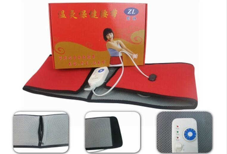 chinese medicine far infrared heating moxa therapy waist belt moxibustion treatment lumbar fat burner herniation dysmenorrhea<br>