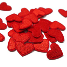 10pcs Love Red Heart Sew Patch  Iron On Embroidery Patches Badge Bag Hat Jeans Appliques