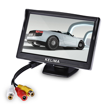 5 Inch HD Rear View Car Auto Vehicle Parking Backup 170 Degree Camera with Displayer Two-Way AV Port TFT Monitor(China)