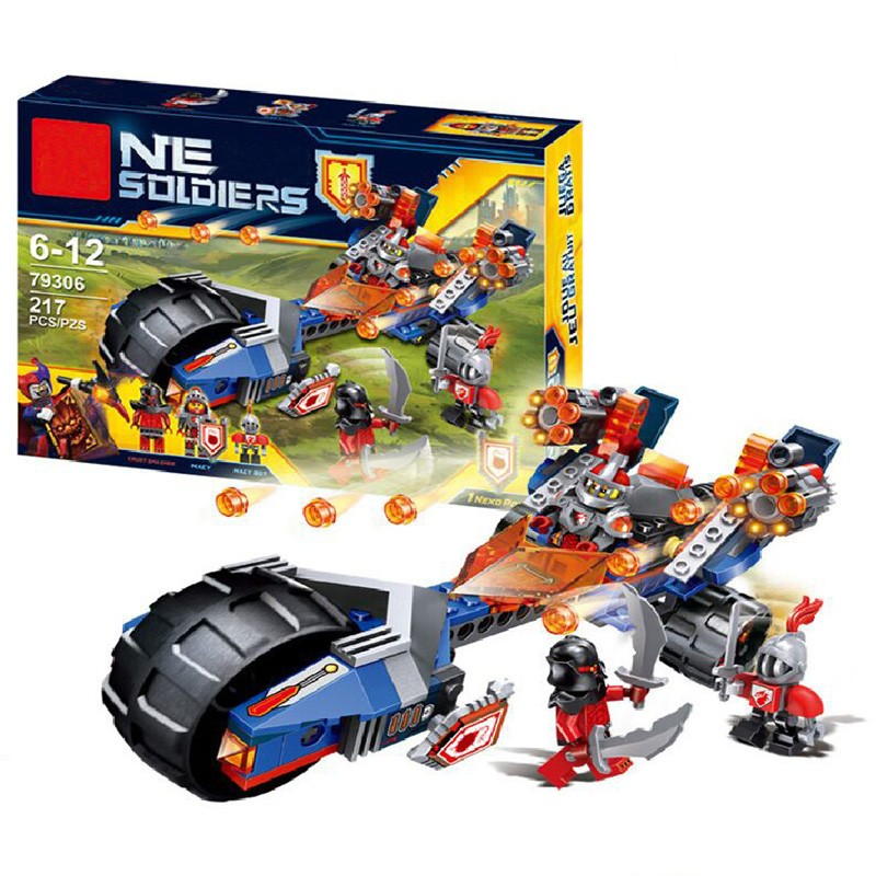 2016 LEPIN Building Blocks Knights Macy's Thunder Mace Set Crust Smasher Figures Gift Toys Compatible Nexus Legoelieds 70319  -  LEGOusi Store store
