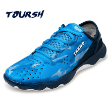 TOURSH Hot Trail Running Shoes For Men Sport Shoes Cross Country Outdoor Sneakers Zapatos Para Correr Lace-Up Boys Jogging Shoes