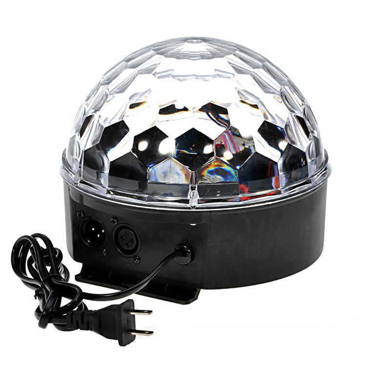 DMX512 RGB Premium Sound Control Stage Light LED 18W 6LEDS RGB Magic Crystal Ball Lamp Disco Light Laser Wedding home Party laser light (13)